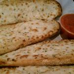 Another shot of the wonderful Cheesy Garlic Bread.  This can be a meal itself.