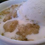 At times they will feature a three course meal...this was the dessert for the meal.  It was a Apple Crisp Dessert with Vanilla Bean Ice Cream.