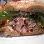 This is the Turkey, Brie & Cranberry Croissant which is off of the lunch menu. This was a great sandwich!