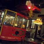 The popular trolley in which diners can sit in to enjoy their meals.  We don't believe their is a weight limit because we are allowed to dine in this car.