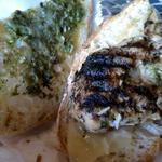 The components of Joes Famous Chicken includes Grilled Chicken, Cheese, Pesto Sauce on Rahn's Bread. This is one of those sandwiches that you will keep coming back for.
